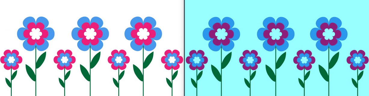 Left side is original picture and on right side after calling method decreaseRed()